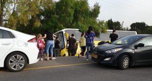 התאונה בכביש 4. צילום: כיבוי והצלה מחוז חוף