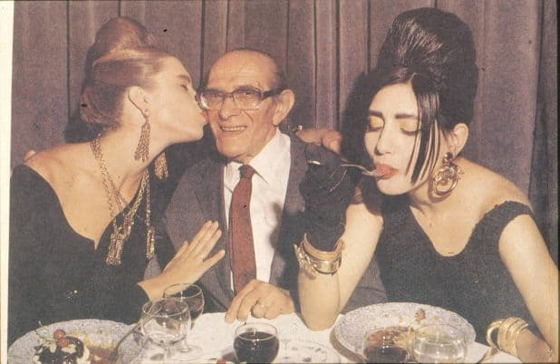 ימי הזוהר בשנות ה-80. גנזי עם רונית אלקבץ | צילום: מירי דוידוביץ