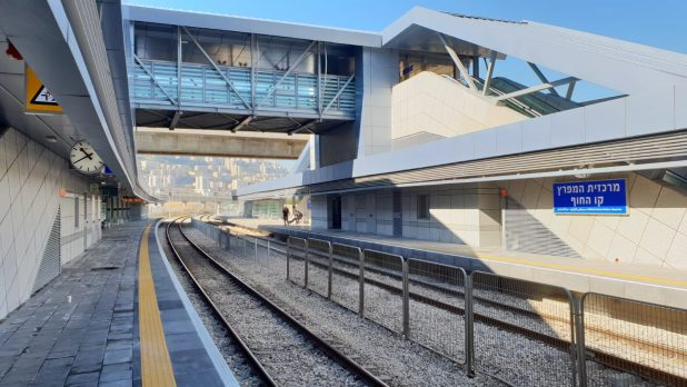 מרכז התחבורה במרכזית המפרץ | צילום: דוברות רכבת ישראל