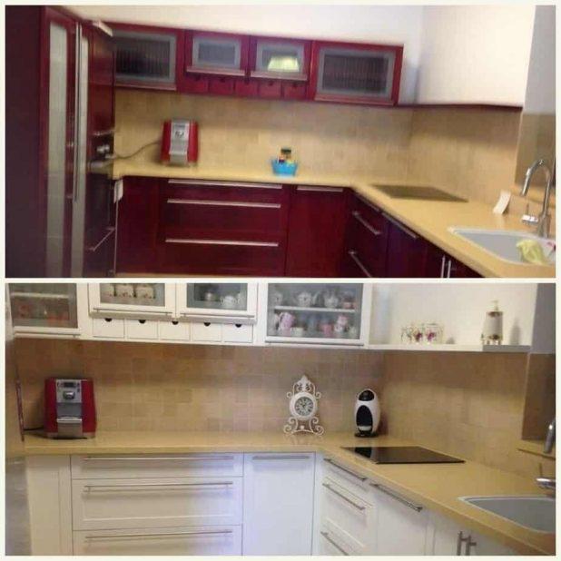 מטבח לפני (למעלה) ואחרי חידוש