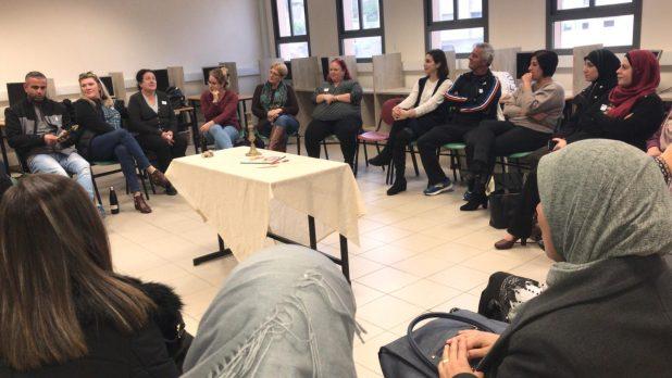 המורים ממגדל העמק ומיפיע במהלך המפגש (צילום עצמי)