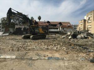 מרכז סלע בנהריה נהרס | צילום: קובי הרצשטרק