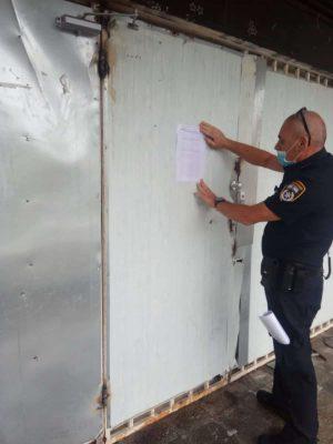 בית הימורים בנהריה שנסגר   באדיבות דוברות המשטרה