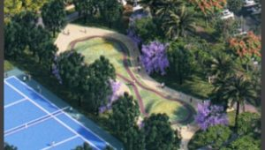 פארק עירוני חדש בקרית ים. יוקם בשטח הפתוח בין מפעל רפאל לשכונת אלמוגים | הדמיה: יח