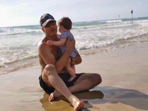 דב הירש ובתו בכאמל (צילום עצמי)