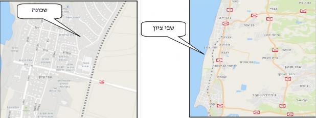הים במערב, כביש 4 במזרח - מגרש למכירה בהרחבת שבי ציון | צילום: מפות ישראל