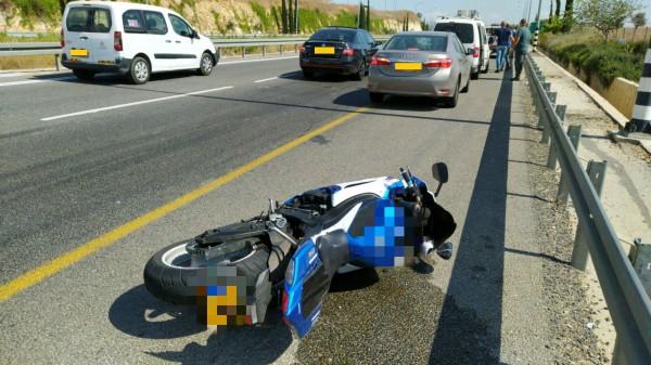 זירת התאונה בכביש 79 | צילום:דוברות איחוד הצלה