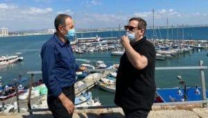 שר התיירות אסף זמיר וראש עיריית עכו שמעון לנקרי | צילום: דוברות עיריית עכו