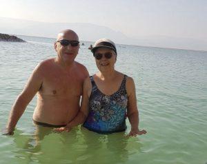 ישראל ורמוט והאישה בים המלח (צילום עצמי)