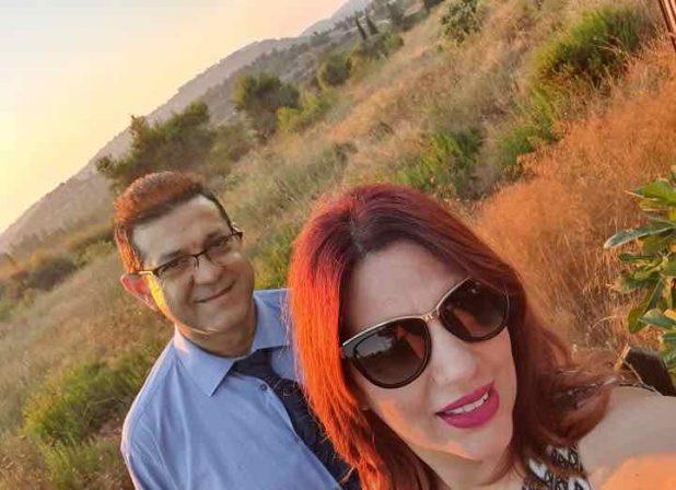 בשדות העמק. לואי זרייק והאישה (צילום עצמי)