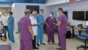 המרכז הרפואי לגליל נהריה, מחלקת קורונה   צילום: אלי כהן