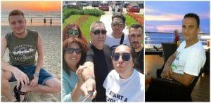 מימין: מוטי טל, לימור אלבכור ומשפחתה, בר קוניו   צילומים: עצמיים