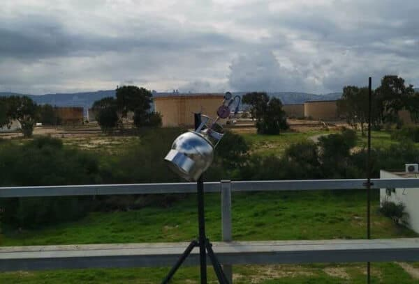 חוות המכלים כפי שמשתקפת מגג בית הספר דגניה   צילום: איגוד ערים לאיכות סביבה