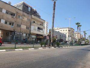 רחוב הנשיא היום, בזמן הסגר \ צילום: איילת קדם