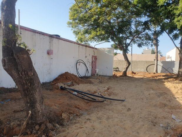המקלט סגור לרגל שיפוצים \ צילום: איילת קדם