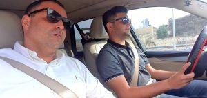 הנהג הפרטי של אבא. יניב ועמירם לנקרי | צילום: עצמי