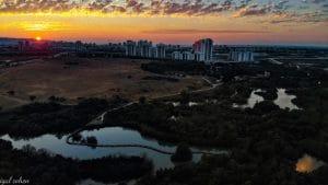 מבט לשכונת אפקה בקרית ביאליק משמורת הטבע עין אפק | צילום: יגאל כהן