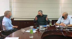 שר החוץ, גבי אשכנזי וראש עיריית נהריה, רונן מרלי | צילום: עיריית נהריה