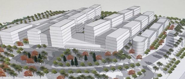 המרכז הרפואי החדש המתוכנן בכרמיאל (הדמיה: משרד האדריכלים KKE)