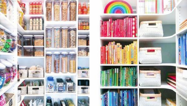 סידור לפי צבעים של ג'ואנה וקליאה | צילום: אתר The Home Edit
