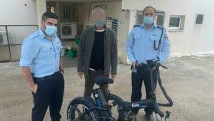 אופניים חשמליים שנגנבו בכרמיאל שאותרו | צילום דוברות משטרת ישראל