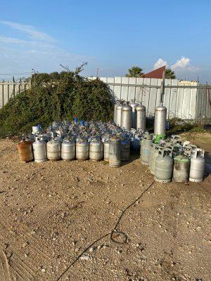 בלוני גז פיראטי \ צילום: משטרת ישראל