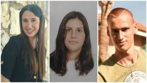 שלושה מתנדבים מצטיינים ממעלות תרשיחא | צילום: דוברות עיריית מעלות