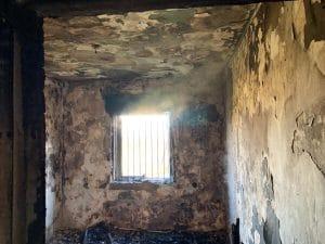 שריפה בדירה ברחוב דגניה בקרית חיים   צילום: דוברות כיבוי והצלה
