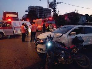 זירת התאונה בפרדס חנה \ צילום: דוברות איחוד הצלה