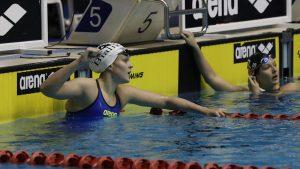 עשתה את זה. שחיינית מכבי קרית ביאליק, אנסטסיה גורבנקו | צילום: אורן אהרוני, איגוד השחייה