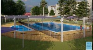 הדמיה של הבריכה עירונית. צילום: באדיבות דוברות העירייה