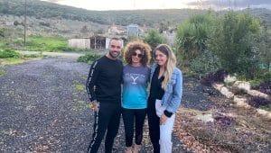 מימין נוי צמח, אילנה אלוני ומיכה סלמה   צילום באדיבות מיכה סלמה