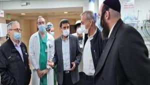 פרוייקטור הקורונה בלניאדו | צילום: עשהאל שחף דובר בית החולים
