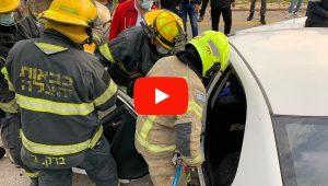 תאונת דרכים קשה סמוך לכליל | צילום: דוברות כיבוי אש