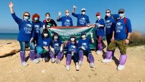 קבוצת עובדים מהמרכז הרפואי לגליל בנהריה | צילום: באדיבות המרכז