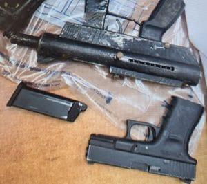 חלק מכלי הנשק שנתפסו השבוע | צילום: דוברות המשטרה