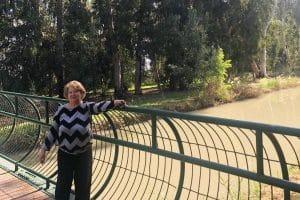 טוניה בטיול משפחתי בנחל נעמן | צילום: באדיבות המשפחה