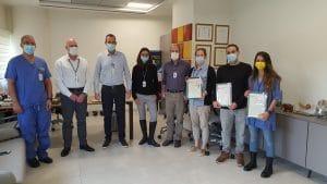 פרסים ותעודות הוקרה בהלל יפה | צילום: דוברות בית החולים
