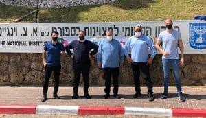 מימין לשמאל: תומר זלצר, משה סמיה, ארנון בר-דוד, קותי דרעי ורפי כחלון   צילום: דוברות ההסתדרות