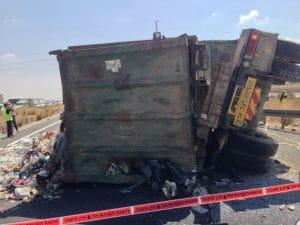 תאונת דרכים עם רכב כבד   צילום: עמותת אור ירוק