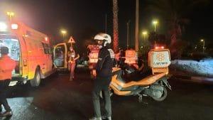 תאונת דרכים ליד נתניה | צילום: איחוד הצלה