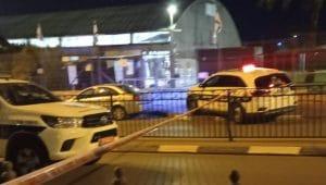 אירוע ירי לעבר רכב בחדרה | צילום: דוברות המשטרה