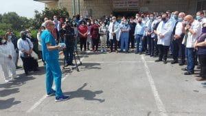 מחאה בנצרת   צילום: בית החולים האנגלי
