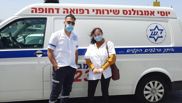 אחות הצילה חיי רגל מטופלת   צילום: דוברות כללית