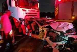 תאונת שרשרת בכביש 77   צילום: דוברות כיבוי אש