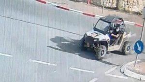 גניבת רכב שטח בנוף הגליל שהוחזר לבעליו   צילום: דוברות המשטרה