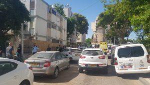 זירת הרצח בחדרה   צילום: דוברות משטרת ישראל