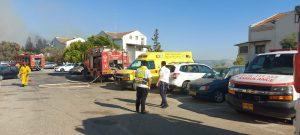 שריפת חורש | צילום: דוברות ארגון הצלה