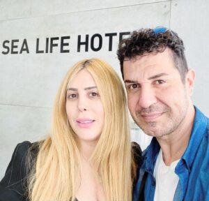 איציק כהן ומנהלת מלון סיי לייף טלי קדוש   צילום יחצ