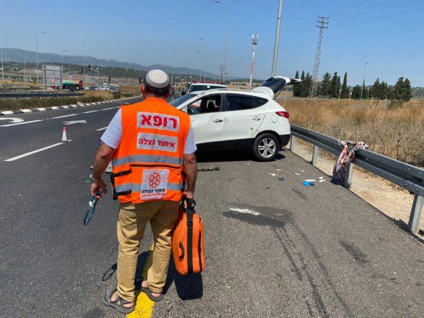 תאונת דרכים במחלף ישי | צילום: איחוד הצלה